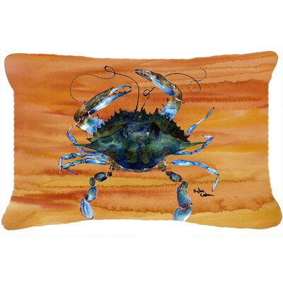 Burgett Crab Orange Indoor/Outdoor Throw Pillow
