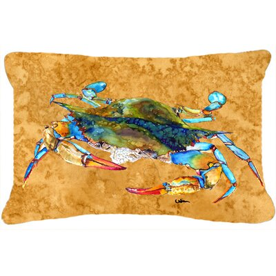 Crab Brown Indoor/Outdoor Throw Pillow