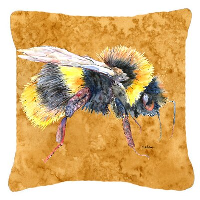 Bee Square Indoor/Outdoor Throw Pillow Size: 14 H x 14 W x 4 D