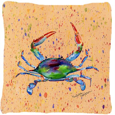 Colorful Crab Indoor/Outdoor Throw Pillow