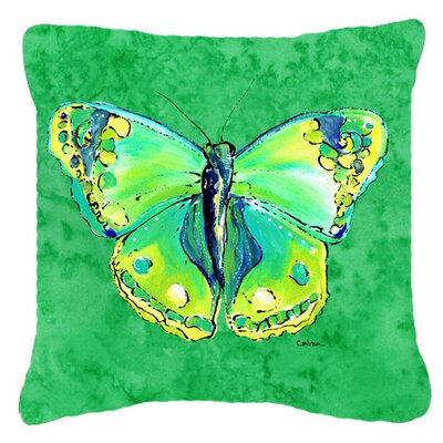 Butterfly Green Indoor/Outdoor Throw Pillow Size: 14 H x 14 W x 4 D