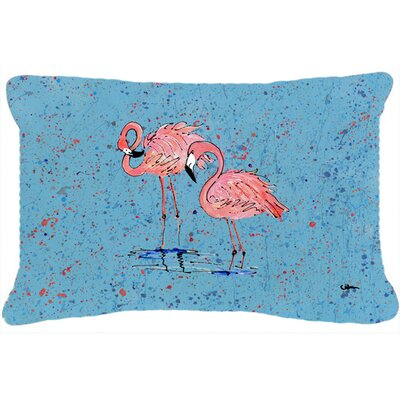 Flamingo Rectangular Indoor/Outdoor Throw Pillow Color: Blue