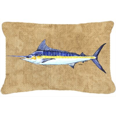 Blue Marlin Indoor/Outdoor Throw Pillow
