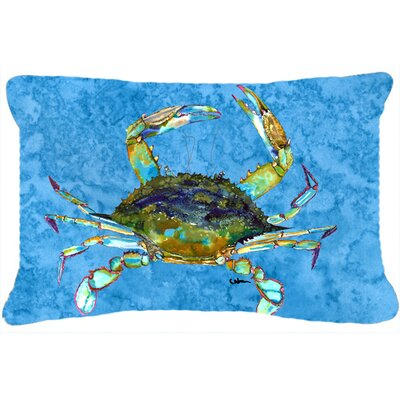 Burgett Crab Indoor/Outdoor Throw Pillow