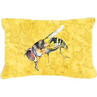 Bee Indoor/Outdoor Yellow Throw Pillow