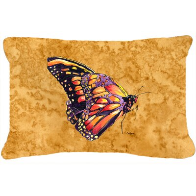 Butterfly Indoor/Outdoor Orange Throw Pillow