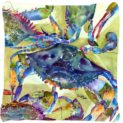 Crab Rectangular Indoor/Outdoor Throw Pillow Size: 14 H x 14 W x 4 D