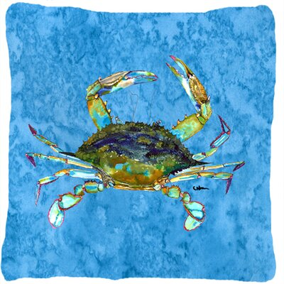 Crab Indoor/Outdoor Square Throw Pillow