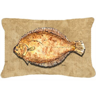 Flounder Indoor/Outdoor Throw Pillow
