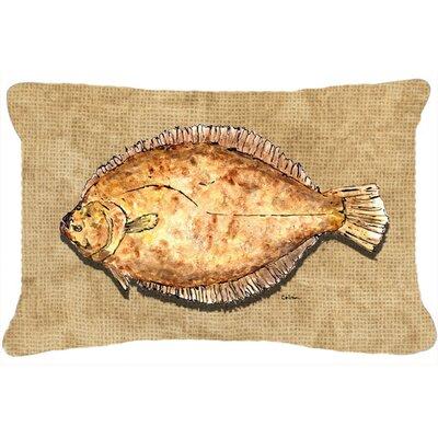 Flounder Indoor/Outdoor Throw Pillow