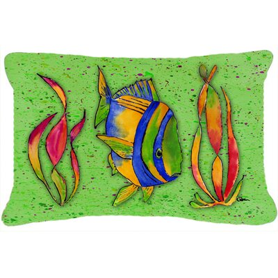 Tropical Fish Indoor/Outdoor Throw Pillow Color: Green