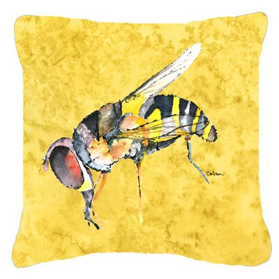 Bee Yellow Indoor/Outdoor Throw Pillow Size: 14 H x 14 W x 4 D