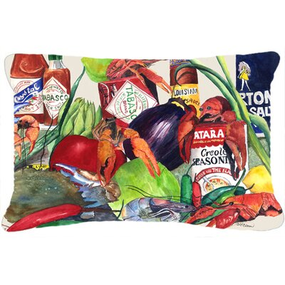 Louisiana Spices Indoor/Outdoor Throw Pillow