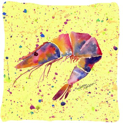Shrimp Indoor/Outdoor Throw Pillow Color: Red/Yellow