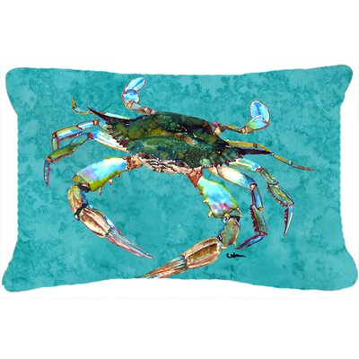 Burgett Crab Blue Indoor/Outdoor Throw Pillow