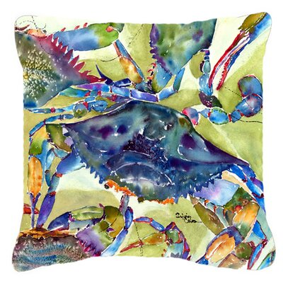 Crab Rectangular Indoor/Outdoor Throw Pillow Size: 18 H x 18 W x 5.5 D