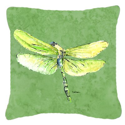 Dragonfly Indoor/Outdoor Square Throw Pillow Size: 14 H x 14 W x 4 D