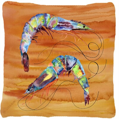 Shrimp Indoor/Outdoor Throw Pillow Color: Yellow