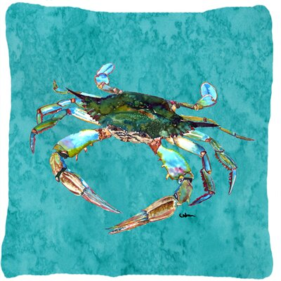 Crab Indoor/Outdoor Graphic Print Throw Pillow