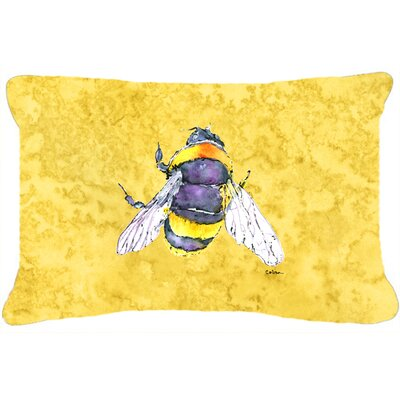 Bee Indoor/Outdoor Rectangular Yellow Throw Pillow