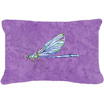 Dragonfly Indoor/Outdoor Purple Throw Pillow