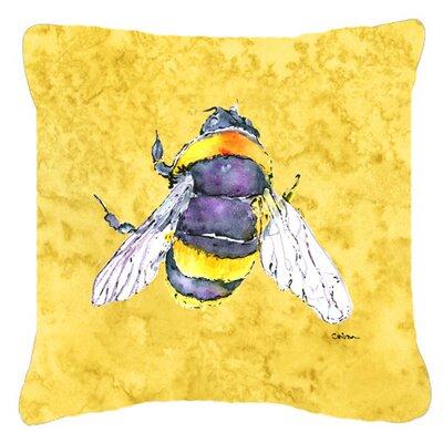 Bee Indoor/Outdoor Throw Pillow Size: 14 H x 14 W x 4 D