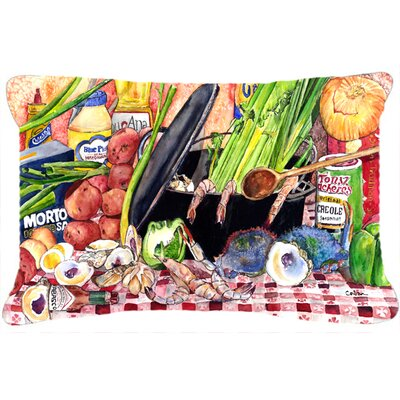 Gumbo and Potato Salad Rectangular Indoor/Outdoor Throw Pillow