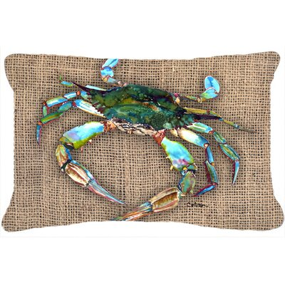 Burgett Crab Brown Indoor/Outdoor Throw Pillow