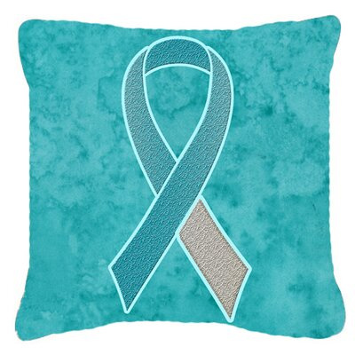 Ribbon for Cervical Cancer Awareness Indoor/Outdoor Throw Pillow Size: 14 H x 14 W x 4 D