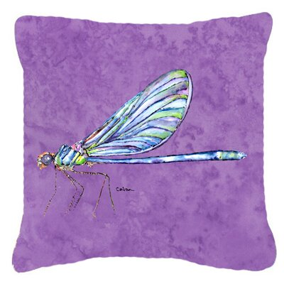 Dragonfly Square Indoor/Outdoor Throw Pillow Size: 14 H x 14 W x 4 D