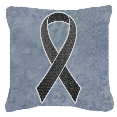 Ribbon for Melanoma Cancer Awareness Indoor/Outdoor Throw Pillow Size: 18 H x 18 W x 5.5 D