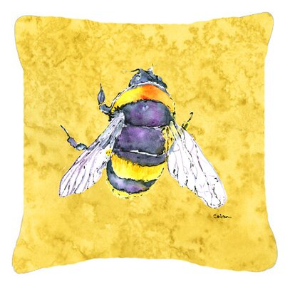 Bee Indoor/Outdoor Throw Pillow Size: 18 H x 18 W x 5.5 D