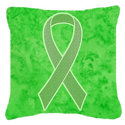 Ribbon for Lymphoma Cancer Awareness Indoor/Outdoor Throw Pillow Size: 18 H x 18 W x 5.5 D