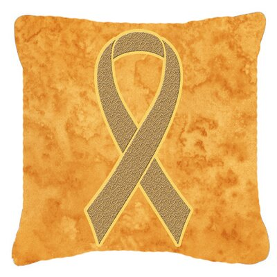 Ribbon for Uterine Cancer Awareness Indoor/Outdoor Throw Pillow Size: 18 H x 18 W x 5.5 D