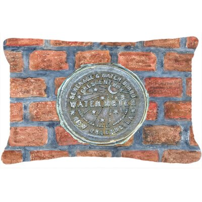 New Orleans Watermeter on Bricks Indoor/Outdoor Throw Pillow