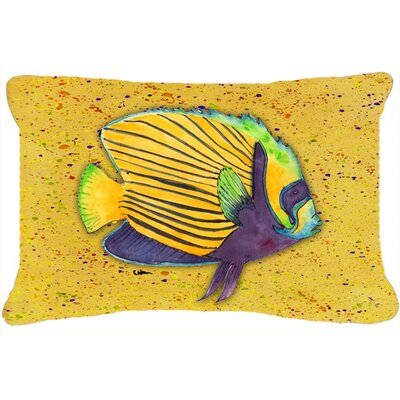 Tropical Fish Indoor/Outdoor Throw Pillow Color: Yellow
