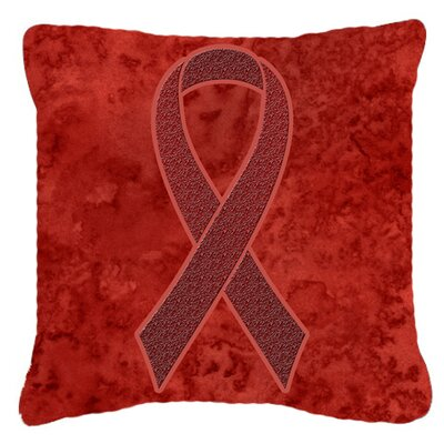 Ribbon for Multiple Myeloma Cancer Awareness Indoor/Outdoor Throw Pillow Size: 18 H x 18 W x 5.5 D