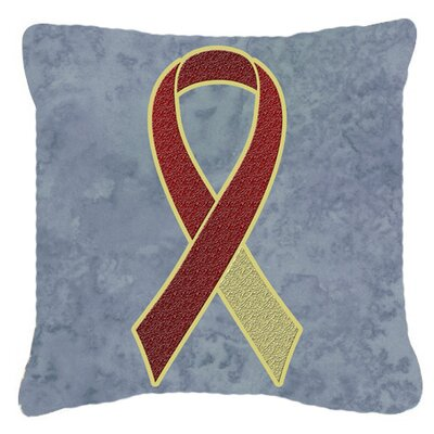 Ribbon for Head and Neck Cancer Awareness Indoor/Outdoor Throw Pillow Size: 14 H x 14 W x 4 D