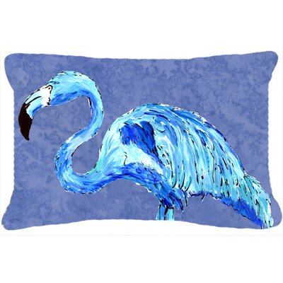 Flamingo Rectangular Blue Indoor/Outdoor Throw Pillow