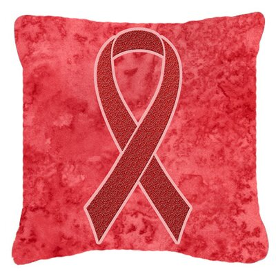 Ribbon for Aids Awareness Indoor/Outdoor Throw Pillow Size: 14 H x 14 W x 4 D