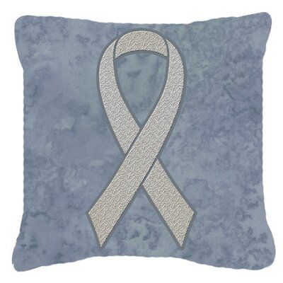 Ribbon for Lung Cancer Awareness Indoor/Outdoor Throw Pillow Size: 14 H x 14 W x 4 D