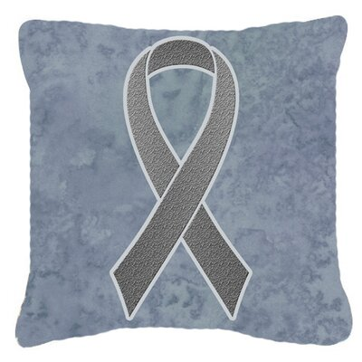 Ribbon for Brain Cancer Awareness Indoor/Outdoor Throw Pillow Size: 14