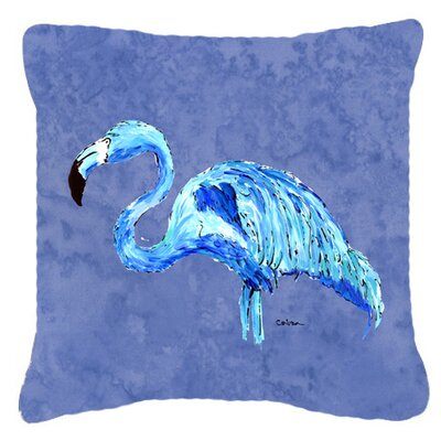 Flamingo Blue Indoor/Outdoor Throw Pillow Size: 14 H x 14 W x 4 D