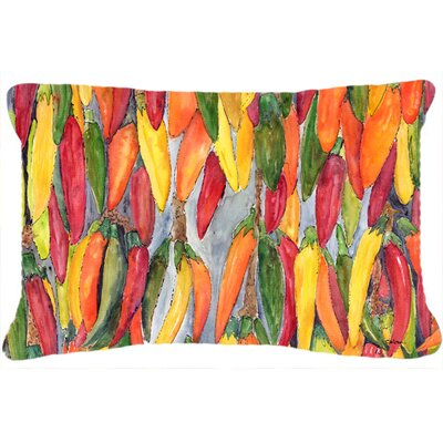 Hot Peppers Indoor/Outdoor Throw Pillow