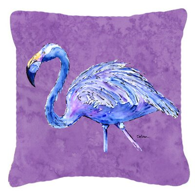Flamingo Indoor/Outdoor Throw Pillow Size: 14 H x 14 W x 4 D