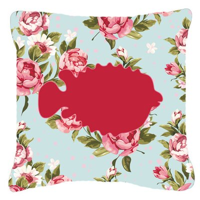Blowfish Shabby Elegance Blue Roses Indoor/Outdoor Throw Pillow Size: 14 H x 14 W x 4 D