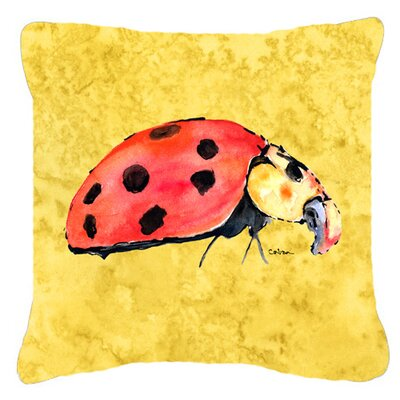 Lady Bug Indoor/Outdoor Throw Pillow Size: 14 H x 14 W x 4 D