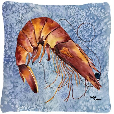 Shrimp Indoor/Outdoor Throw Pillow Color: Blue