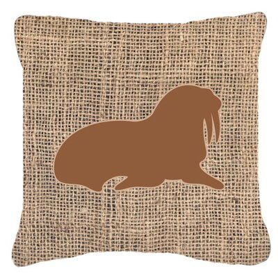 Walrus Burlap Indoor/Outdoor Throw Pillow Size: 14 H x 14 W x 4 D, Color: Brown