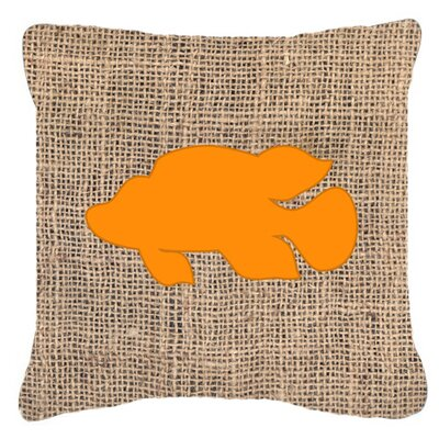 Tropical Fish Burlap Indoor/Outdoor Throw Pillow Size: 18 H x 18 W x 5.5 D, Color: Orange